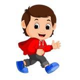 Cute boy cartoon. Illustration of cute boy cartoon Royalty Free Stock Images