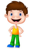 Cute boy cartoon posing Stock Photography