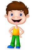 Cute boy cartoon posing Stock Photography