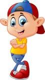 Cute boy cartoon posing Stock Image