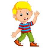 Cute boy cartoon posing. Illustration of Cute boy cartoon posing vector illustration