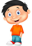 Cute boy cartoon standing Stock Photo