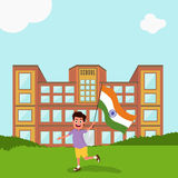 Cute Boy celebrating Indian Independence Day. Royalty Free Stock Photos