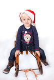 Cute boy in Christmas mood stock photography