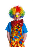 Cute boy clown Stock Photos
