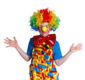 Cute boy clown Stock Photos