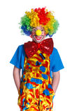 Cute boy clown Stock Photography