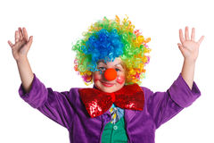 Cute boy clown Royalty Free Stock Photos