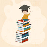 Cute boy with colorful books. Stock Image