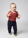 Cute  boy dancing clapping Royalty Free Stock Photo