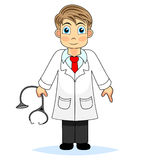 Cute boy doctor Royalty Free Stock Images
