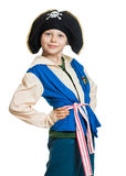 Cute boy dressed as pirate Royalty Free Stock Photography