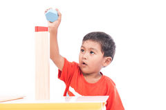 Cute boy excited Royalty Free Stock Image