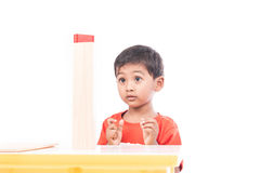 Cute boy excited Royalty Free Stock Photo
