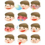 Cute boy facial expressions. There are cute boy facial expressions Stock Photos