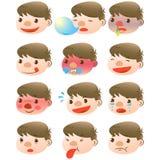 Cute boy facial expressions Stock Photos