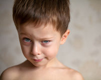 Cute boy is full of emotions. Little boy is showing his emotions Royalty Free Stock Photo