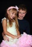 Cute boy and girl Royalty Free Stock Photos
