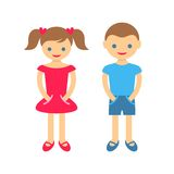 Cute boy and girl Royalty Free Stock Photography