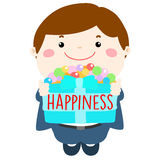 Cute boy give happiness for all  illustration Stock Images