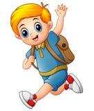 Cute boy go to school Stock Image