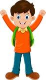 Cute boy go to school Stock Photo