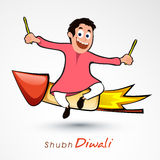Cute boy for Happy Diwali celebration. Royalty Free Stock Photo