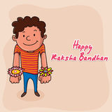 Cute boy for Happy Raksha Bandhan. Royalty Free Stock Image