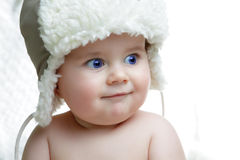 Cute boy in the hat Stock Photo