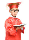 Cute boy is holding book Royalty Free Stock Photos