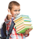 Cute boy is holding book Royalty Free Stock Photo