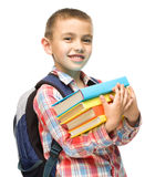 Cute boy is holding book Stock Image