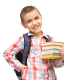Cute boy is holding book Stock Images