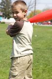 Cute Boy Holding Toy Baseball Bat Royalty Free Stock Photos