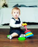 Cute boy at home Royalty Free Stock Images