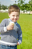 Cute boy with ice-cream Royalty Free Stock Images