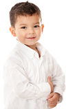 Cute boy isolated Stock Images