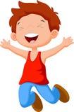 Cute boy jump. Illustration of Cute boy jump stock illustration