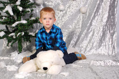 Cute boy kid christmas Royalty Free Stock Image