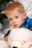 Cute boy kid christmas Royalty Free Stock Images