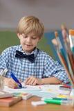 Cute boy in kindergarten Stock Photos