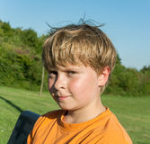 Cute boy in landscape Royalty Free Stock Photos