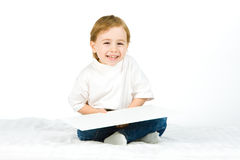 Cute boy laughing Royalty Free Stock Photography