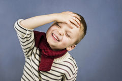Cute boy laughing Stock Images
