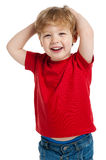 Cute Boy Laughing Stock Image