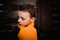 Cute Boy Looking Serious Royalty Free Stock Images