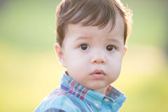 Cute boy looking somewhere Royalty Free Stock Photos