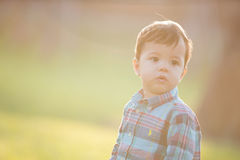Cute boy looking somewhere Royalty Free Stock Photo