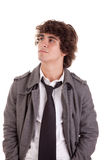 Cute boy, looking up Royalty Free Stock Images