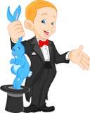 Cute boy magician. Illustration of cute boy magician Royalty Free Stock Image